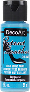 Turquoise Patent Leather Paint