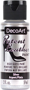 Silver Patent Leather Paint