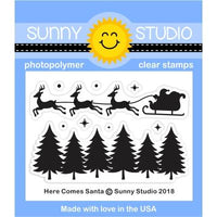 Here Comes Santa Clear Stamp