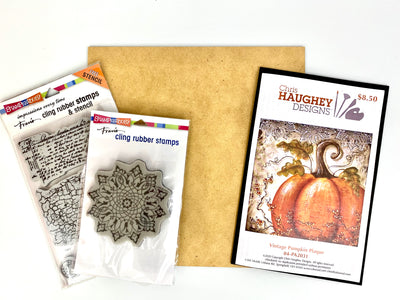 Vintage Pumpkin with Stamps Bundle