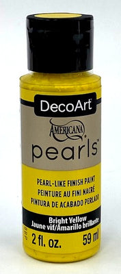 Bright Yellow Pearls Acrylic Paint by DecoArt