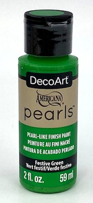 Festive Green Pearls Acrylic Paint by DecoArt