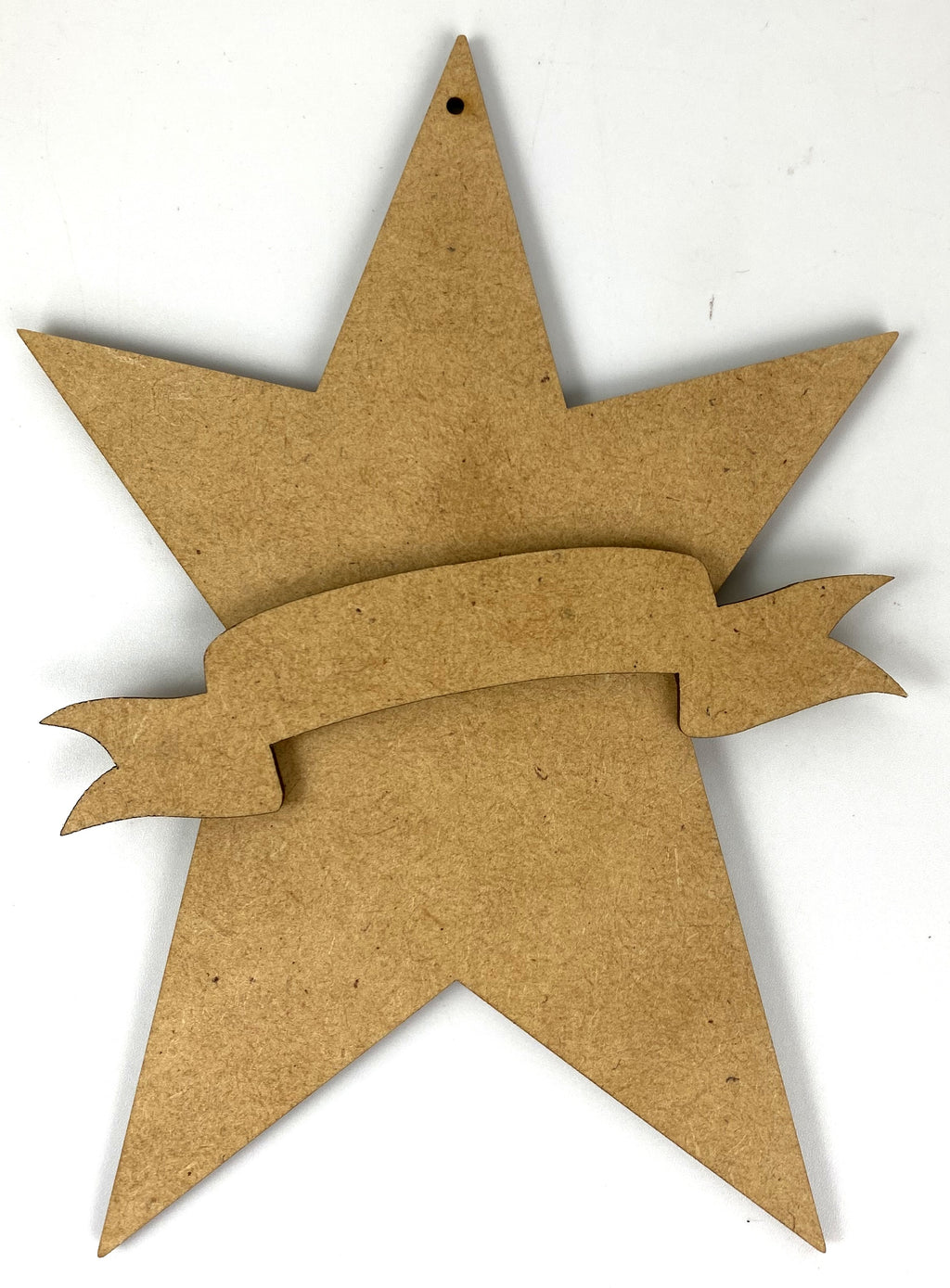 "5"" Star with Banner Ornament"