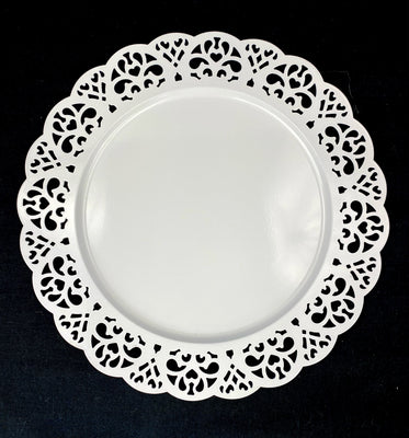 Lace Metal Plate 12 1/2