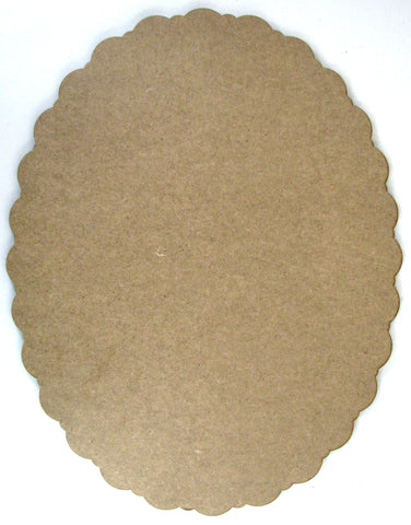 Oval Scallop Plaque