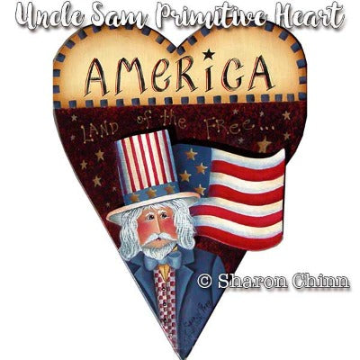 Uncle Sam Primitive Heart E-Pattern