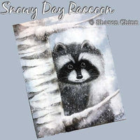Snowy Day Raccoon E-Pattern