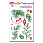 Christmas Greenery Perfectly Clear Stamp by Stampendous