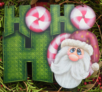 Ho Ho Ho Plaque By Sandy LeFlore