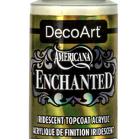 Gold Enchanted Iridescent Topcoat Acrylic Paint by DecoArt