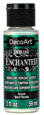 Green Enchanted Iridescent Topcoat Acrylic Paint by DecoArt