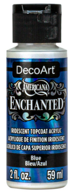 Blue Enchanted Iridescent Topcoat Acrylic Paint by DecoArt