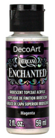 Magenta Enchanted Iridescent Topcoat Acrylic Paint by DecoArt