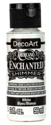 White Enchanted Shimmer Acrylic Paint by DecoArt