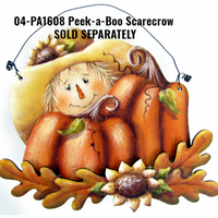 Wood Scarecrow Pumpkin Ornament Kit