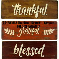 Thankful Grateful Blessed Stencil