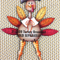 Let's Talk Turkey Ornament Pattern by Chris Haughey