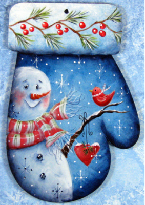 Snowman Love Ornament E-Pattern by Chris Haughey