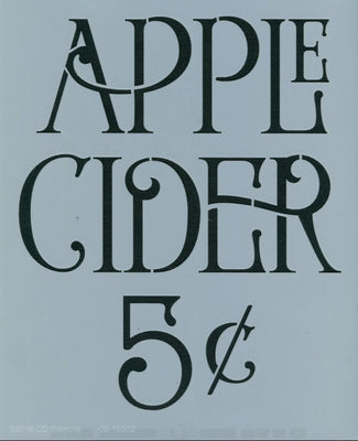 Apple Cider 5¢ Stencil