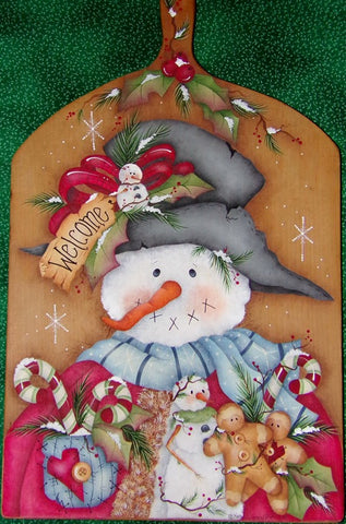 Snowman Cutting Board E-Pattern