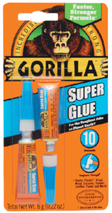 Super Glue Gel by Gorilla Glue 2 Tube Packs
