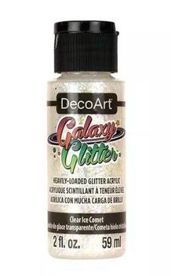Clear Ice Comet Galaxy Glitter Acrylic