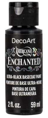 Ultra Black Basecoat Enchanted Acrylic Paint by DecoArt