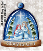 Glory to God  Snowglobe Ornament