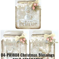 "4-1/4"" Squatty Mason Jar Ornament"
