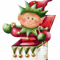 Elf in the Box Ornament Pattern