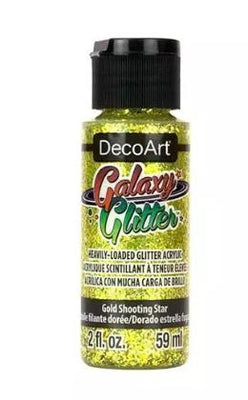 Gold Shooting Star Galaxy Glitter Acrylic