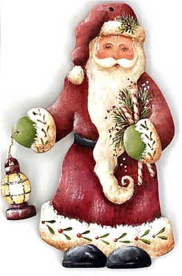 Santa with Lantern Ornament