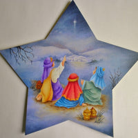 Three Little Wise Men Tree Topper And Ornaments E-Pattern By Sharon Shannon