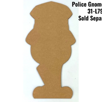 Police Officer Gnome Pattern By Jeannetta Cimo