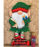 Jingle Elf Gnome Plaque