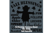 Fall Blessings Scarecrow E-Pattern