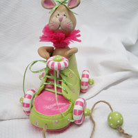 Christmas Mouse Shoe Pull Toy E-Pattern By Linda Hollander