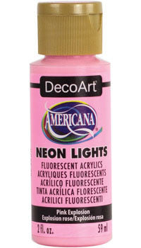 Pink Explosion Neon Lights Paint