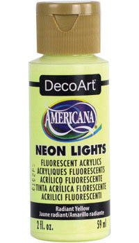 Radiant Yellow Neon Lights Paint