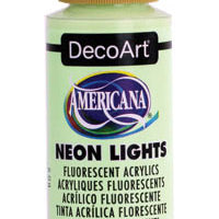 Green Energy Neon Lights Paint