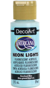 Knockout Blue Neon Lights Paint