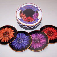 Gerber Daisies Coaster Set E-Pattern By Linda Hollander