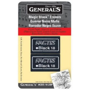 Magic Black Erasers by General's 2 pack