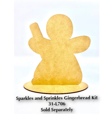 Sparkles and Sprinkles Gingerbread Plaque Kit