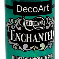 Turquoise Enchanted Iridescent Topcoat Acrylic Paint by DecoArt