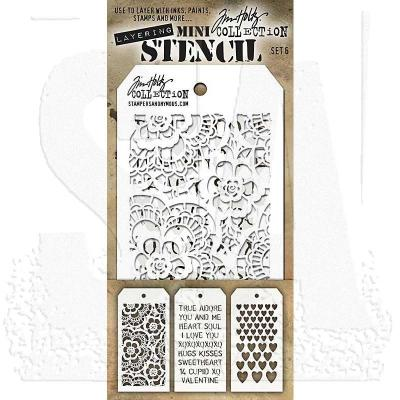 Tim Holtz Mini Stencil Set 6