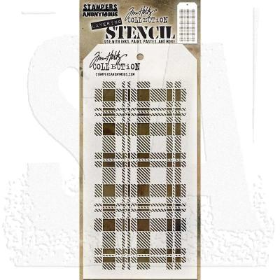 Tim Holtz Plaid Layering Stencil THS097