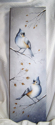 Pair of Tufted Titmouse E-Pattern By Linda Hollander