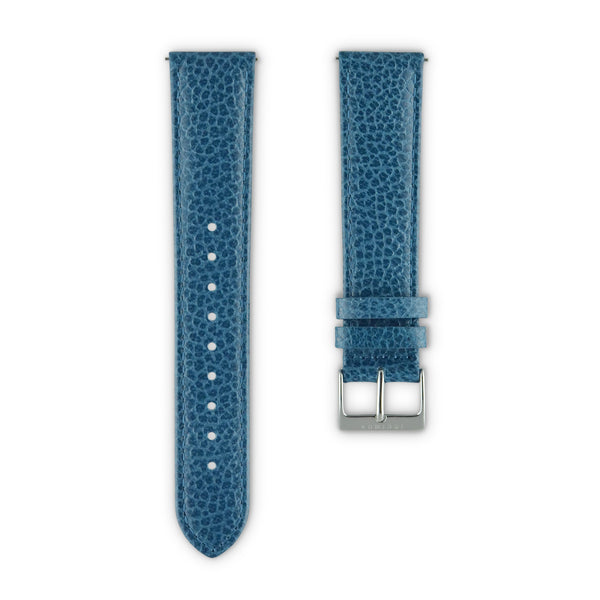 WATCH STRAP IN BLUE ITALIAN LEATHER