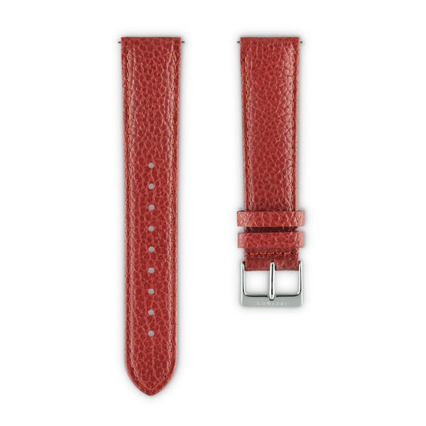 WATCH STRAP IN  RED ITALIAN LEATHER
